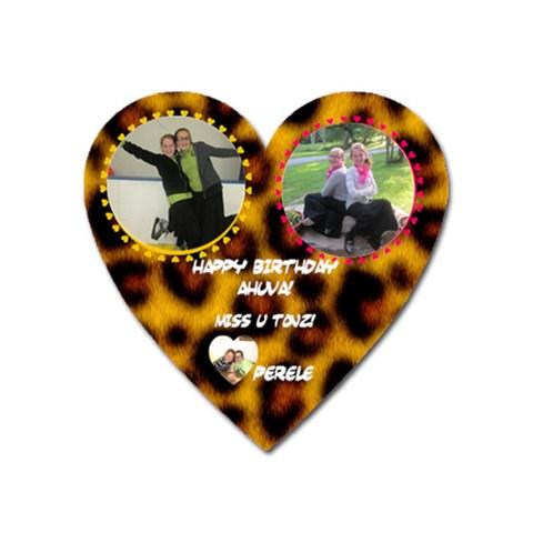 Magnet 4 Ahuva By Perele   Magnet (heart)   Szs0mmmfu538   Www Artscow Com Front