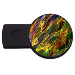 Abstract Smoke 4gb Usb Flash Drive (round) by StuffOrSomething