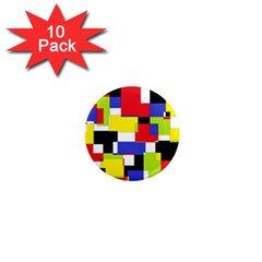 Mod Geometric 1  Mini Button Magnet (10 Pack) by StuffOrSomething