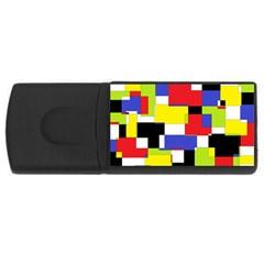Mod Geometric 4gb Usb Flash Drive (rectangle) by StuffOrSomething