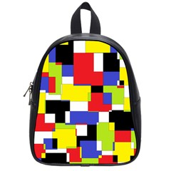 Mod Geometric School Bag (small) by StuffOrSomething