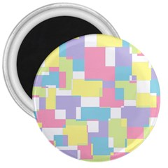 Mod Pastel Geometric 3  Button Magnet by StuffOrSomething