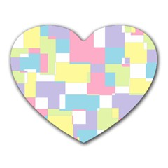 Mod Pastel Geometric Mouse Pad (heart) by StuffOrSomething