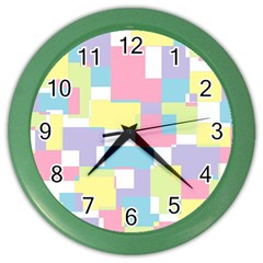 Mod Pastel Geometric Wall Clock (color) by StuffOrSomething