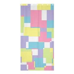Mod Pastel Geometric Shower Curtain 36  X 72  (stall) by StuffOrSomething