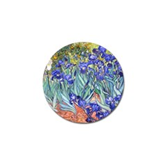 Vincent Van Gogh Irises Golf Ball Marker 4 Pack by MasterpiecesOfArt