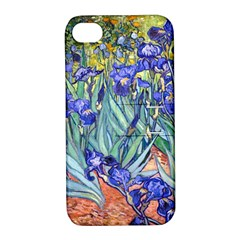 Vincent Van Gogh Irises Apple Iphone 4/4s Hardshell Case With Stand by MasterpiecesOfArt