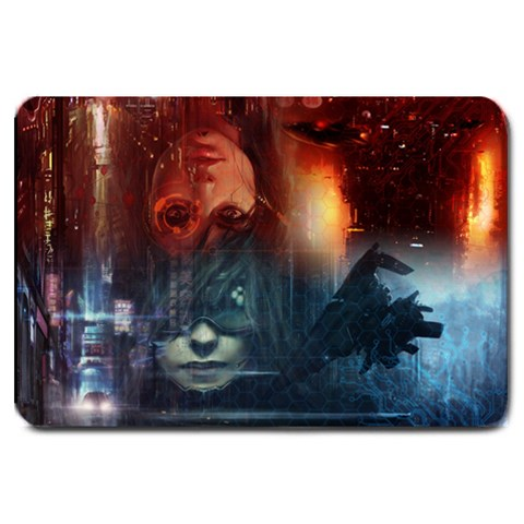 Netrunner Two Player Mat By Lee   Large Doormat   I0q5xligq9de   Www Artscow Com 30 x20 Door Mat - 1