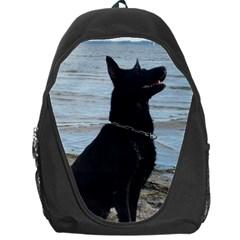 Black German Shepherd Backpack Bag by StuffOrSomething