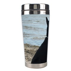 Black German Shepherd Stainless Steel Travel Tumbler by StuffOrSomething