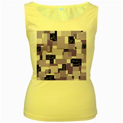 Purple Pain Modular Women s Tank Top (Yellow)
