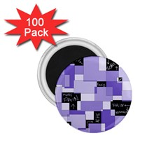 Purple Pain Modular 1 75  Button Magnet (100 Pack) by FunWithFibro
