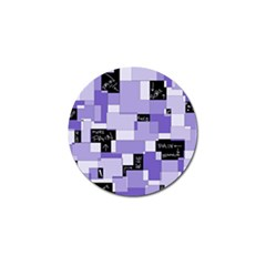 Purple Pain Modular Golf Ball Marker 4 Pack by FunWithFibro
