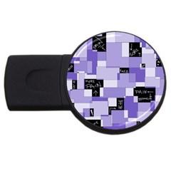 Purple Pain Modular 4gb Usb Flash Drive (round) by FunWithFibro
