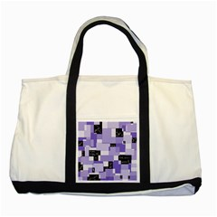 Purple Pain Modular Two Toned Tote Bag by FunWithFibro