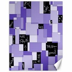 Purple Pain Modular Canvas 12  X 16  (unframed) by FunWithFibro