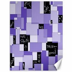Purple Pain Modular Canvas 36  X 48  (unframed) by FunWithFibro