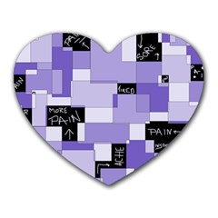 Purple Pain Modular Mouse Pad (heart) by FunWithFibro