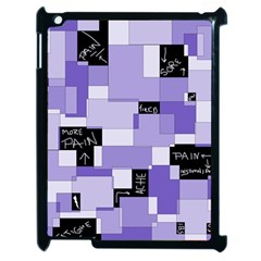 Purple Pain Modular Apple Ipad 2 Case (black) by FunWithFibro