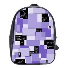 Purple Pain Modular School Bag (xl) by FunWithFibro