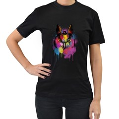 Mr Owl Women s T-shirt (Black) by Contest1836099