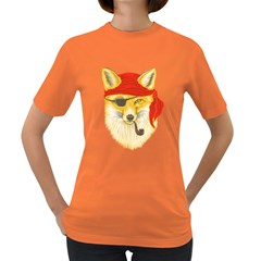 Foxy Pirate Women s T-shirt (Colored) by Contest1836099