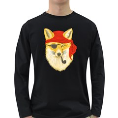 Foxy Pirate Men s Long Sleeve T-shirt (Dark Colored) by Contest1836099