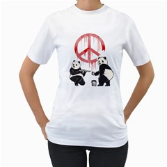 Pandalism 2 Peace Sign Women s T-Shirt (White)  by Contest1836099