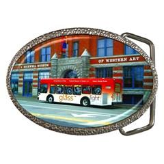 Double Decker Bus   Ave Hurley   Belt Buckle (oval) by ArtRave2
