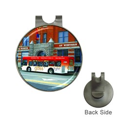 Double Decker Bus   Ave Hurley   Hat Clip With Golf Ball Marker by ArtRave2