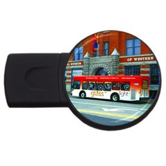 Double Decker Bus   Ave Hurley   4gb Usb Flash Drive (round) by ArtRave2
