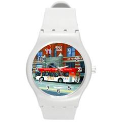 Double Decker Bus   Ave Hurley   Plastic Sport Watch (medium) by ArtRave2