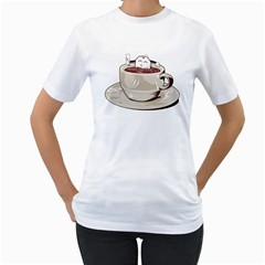 Tea Time Women s T-Shirt (White)  by Contest1753604