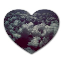 Through The Evening Clouds Mouse Pad (heart)