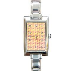 Geometric Pink & Yellow  Rectangular Italian Charm Watch by Zandiepants