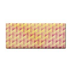 Geometric Pink & Yellow  Hand Towel by Zandiepants