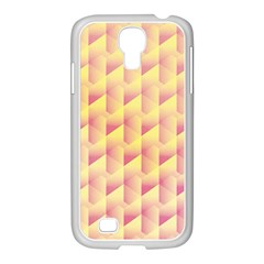 Geometric Pink & Yellow  Samsung Galaxy S4 I9500/ I9505 Case (white) by Zandiepants