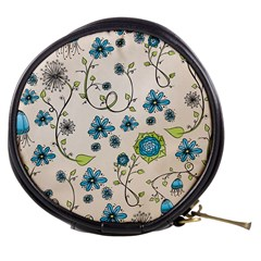 Whimsical Flowers Blue Mini Makeup Case by Zandiepants
