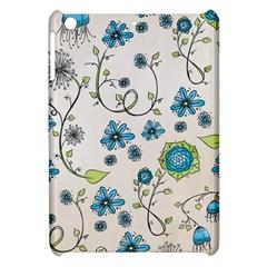Whimsical Flowers Blue Apple Ipad Mini Hardshell Case by Zandiepants