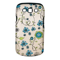 Whimsical Flowers Blue Samsung Galaxy S Iii Classic Hardshell Case (pc+silicone) by Zandiepants