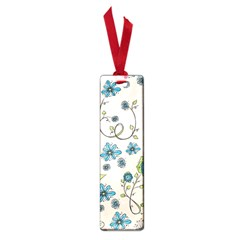 Whimsical Flowers Blue Small Bookmark by Zandiepants