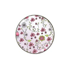 Pink Whimsical Flowers On Pink Golf Ball Marker 10 Pack (for Hat Clip) by Zandiepants