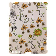 Yellow Whimsical Flowers  Apple Ipad 3/4 Hardshell Case (compatible With Smart Cover) by Zandiepants