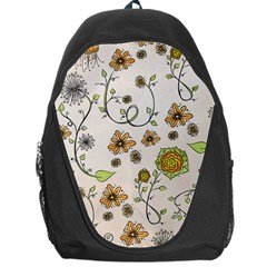 Yellow Whimsical Flowers  Backpack Bag by Zandiepants
