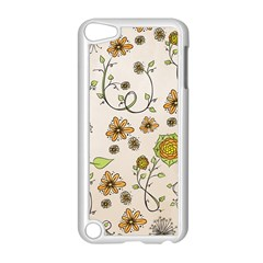 Yellow Whimsical Flowers  Apple Ipod Touch 5 Case (white) by Zandiepants