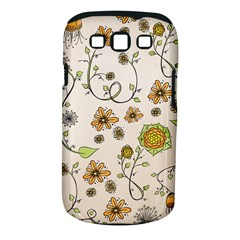 Yellow Whimsical Flowers  Samsung Galaxy S III Classic Hardshell Case (PC+Silicone) by Zandiepants