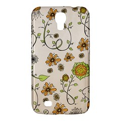 Yellow Whimsical Flowers  Samsung Galaxy Mega 6 3  I9200 Hardshell Case by Zandiepants