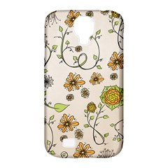 Yellow Whimsical Flowers  Samsung Galaxy S4 Classic Hardshell Case (pc+silicone) by Zandiepants