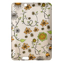 Yellow Whimsical Flowers  Kindle Fire Hdx 7  Hardshell Case by Zandiepants