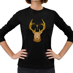 Golden Key Women s Long Sleeve T Shirt (dark Colored) by Contest1836099